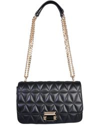 MICHAEL Michael Kors Large Sloan Quilted Leather Messenger Bag - Black