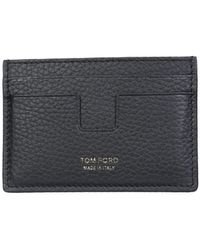 Tom Ford Card Holder With Leather Logo - Black