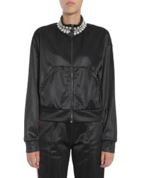 """Forte Couture - Short Zipped """"honour"""" Sweatshirt With Embroidered Collar - Lyst"""