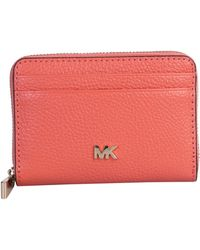 MICHAEL Michael Kors Hammered Leather Mott Wallet - Pink
