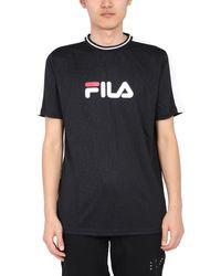 Fila Crew Neck T-shirt With Logo - Black