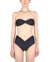 LaRevêche Amelie Bikini Set With Draping - Black