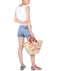 Dolce & Gabbana Stretch Cotton Denim Shorts - Blue