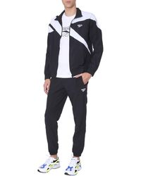 Reebok Sweatshirt Track With Zip And Logo - Black
