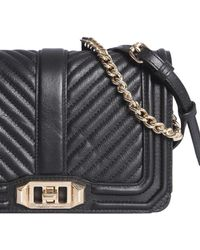 Rebecca Minkoff Small Chevron Quilted Leather Bag - Black
