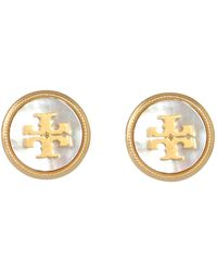 Tory Burch Bracelet With Hook And Enamelled Logo - White