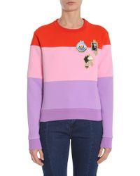 Carven Cotton Sweatshirt - Purple