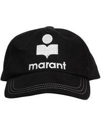 Isabel Marant Tyron Cotton Baseball Cap With Logo - Black