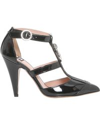 Boutique Moschino - Pump T-bar In Vernice Con Zip - Lyst