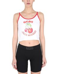 Gcds Top With Thin Straps - White