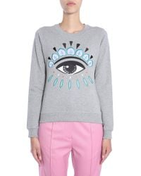 KENZO - Cotton Sweasthirt With Embroidered Eye - Lyst