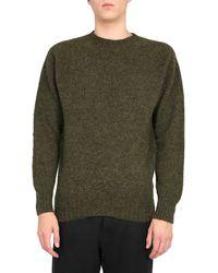YMC Wool Scoop Neck Jumper - Green