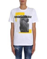 DSquared² - Horse Print T-shirt - Lyst