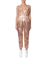 "Isabel Marant ""timi"" Metallic Cotton Suit - Pink"