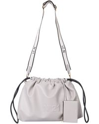 N°21 Eva Econappa Bag With Coulisse - Grey