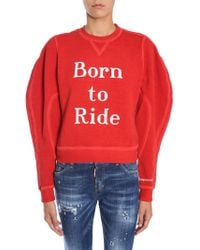 DSquared² Printed Jodhpur Fit Cotton Sweatshirt - Red