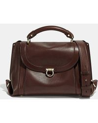 d71e1a767a80 Lyst - Ferragamo Soft Sofia Medium Studded Leather Top Handle Bag in ...
