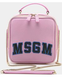 MSGM - Classic Block Letter Backpack - Lyst