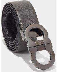 Ferragamo - Reversible Double Gancio Calfskin Belt - Lyst