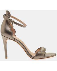 f02ac279658 Rachel Zoe - Ava Heeled Ankle Strap Sandal In Metallic Nappa - Lyst