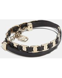 Ferragamo - Varini Double Wrap Vara Bow Leather Bracelet - Lyst