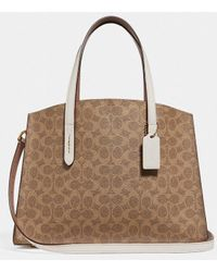 9699f5395d877 COACH - Charlie Signature Coated Canvas Leather Carryall - Lyst