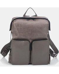 Jimmy Choo - Lennox Crocodile-embossed Leather Backpack - Lyst