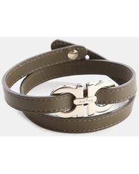 Ferragamo   Leather Wrap Bracelet   Lyst