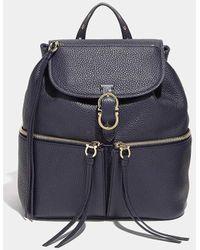 Ferragamo - Medium Carol Gancio Pebbled Calfskin Backpack - Lyst