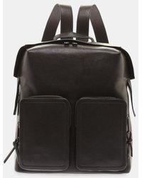 Jimmy Choo - Lennox Zipped Shoulder Strap Leather Backpack - Lyst