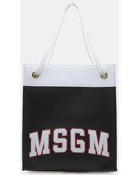 MSGM - Color Block Tote Bag - Lyst