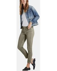 AG Jeans - Prima Crop Jean In Sea-soaked Silver Se - Lyst