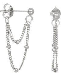Eline Rosina Two Chains Earrings - Metallic