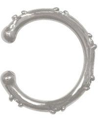 Eline Rosina Zirconia Ear Cuff - Metallic