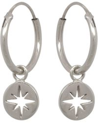 Eline Rosina North Star Coin Hoops - Metallic