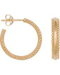 Eline Rosina Double Dots Hoops - Metallic