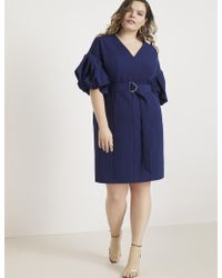 Eloquii - Puff Sleeve Sheath Dress - Lyst