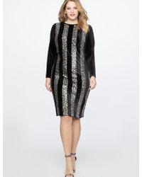 Eloquii - Vertical Stripe Column Dress - Lyst