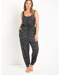 Eloquii Soft Knit Jumpsuit - Black