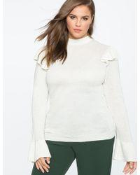 Eloquii - Ruffle Shoulder Sweater - Lyst