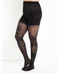 Eloquii Lace Tights - Black