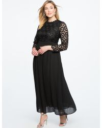 Eloquii - Lace Evening Dress With Pleated Skirt - Lyst