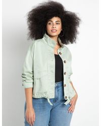 Eloquii Cinched Hem Jacket - Multicolor