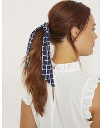 Eloquii - Windowpane Scrunchie With Tie - Lyst