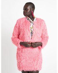 Eloquii Textured Crop Jacket - Pink