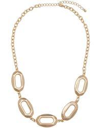 Eloquii Hexagon Link Chain Necklace - Metallic