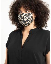 Eloquii Elements Printed Face Mask - Black