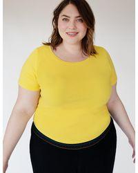 Eloquii Tie Back Tee - Yellow