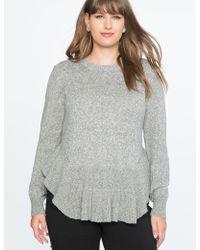 Eloquii - Flounce Hem Sweater - Lyst