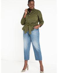 Eloquii Cinched Waist Jacket - Multicolor